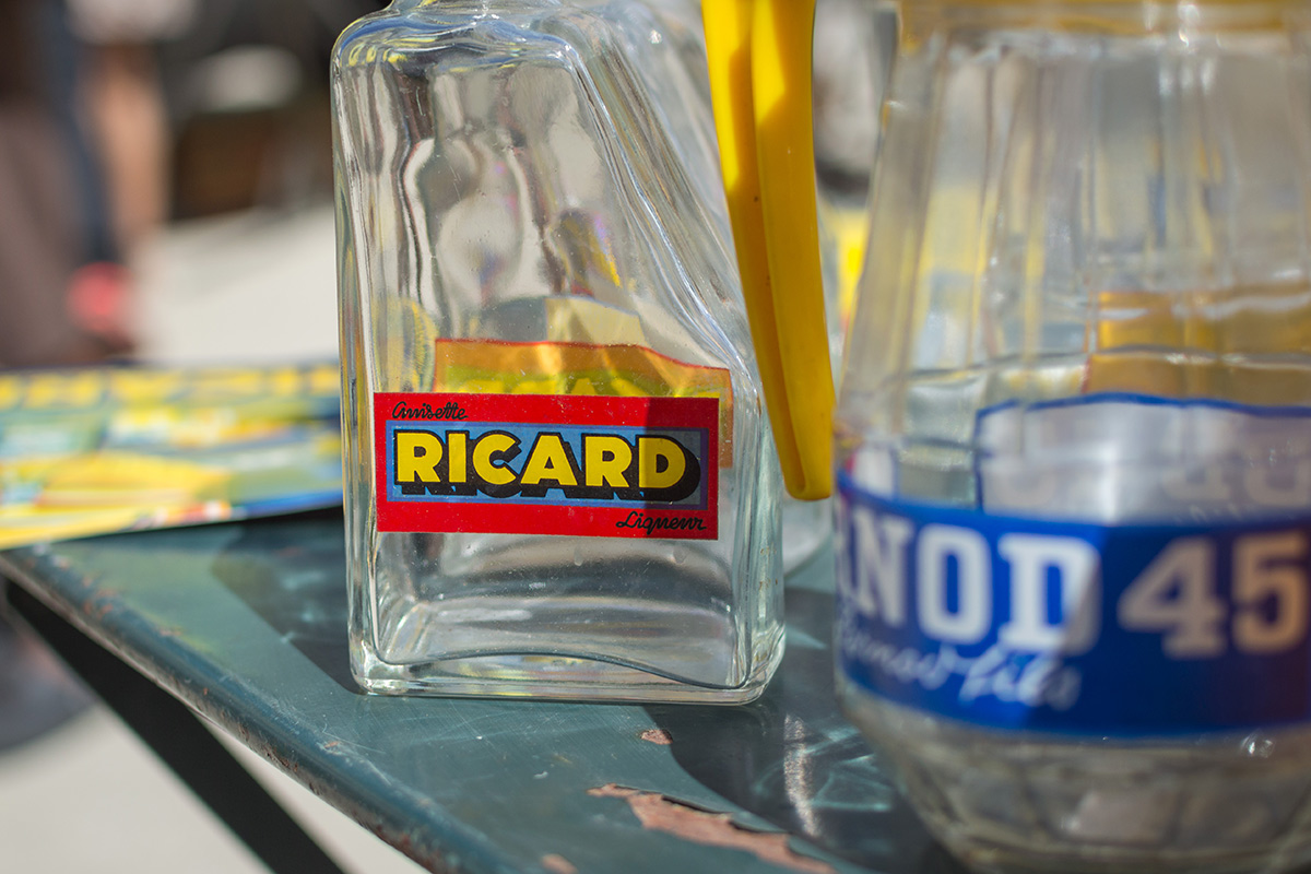 Ricard and Pernod Pastis