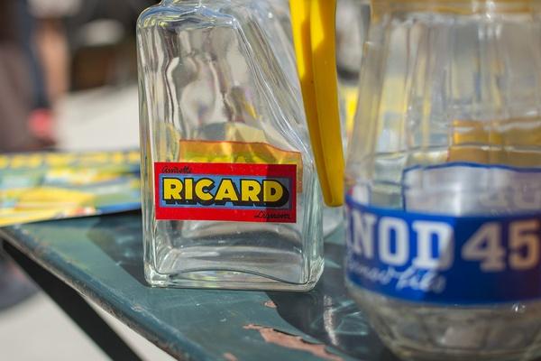 Ricard and Pernod Pastis