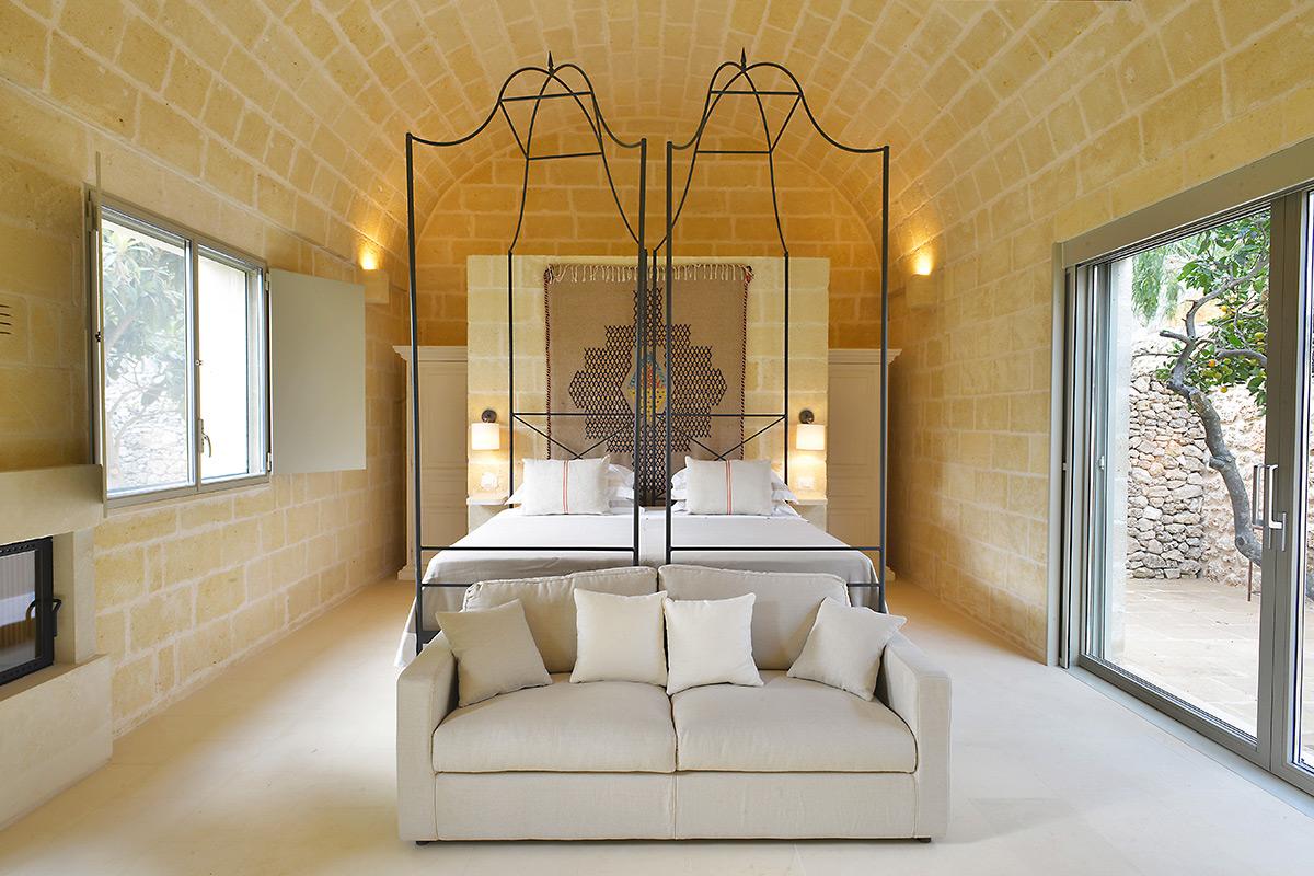 bedroom at Masseria Trapana
