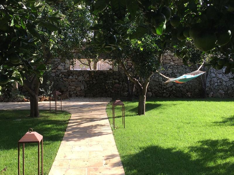 courtyard at Masseria Trapana