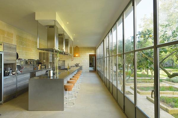 kitchen at Masseria Trapana