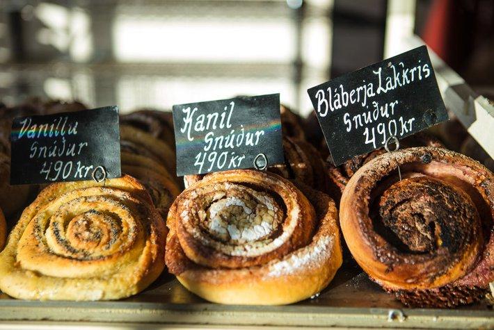 Pastries at Braud & Co in Reykjavík, Iceland