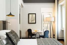 A deluxe suite at Corso 281 Luxury Suites.