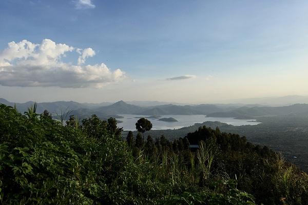 Landscape in Rwanda