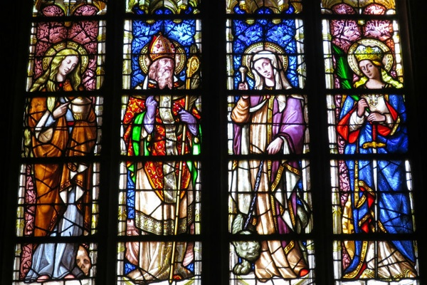 Stained glass in Saint Saveur Cathedral