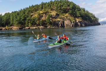 Kayaking in Washington's San Juan Islands.