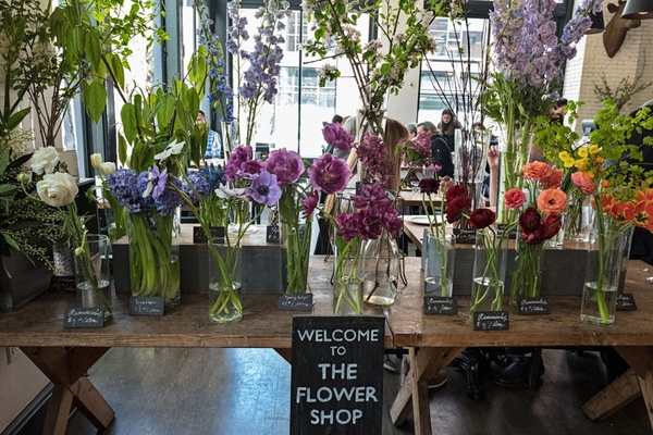 Flower shop at London Plane