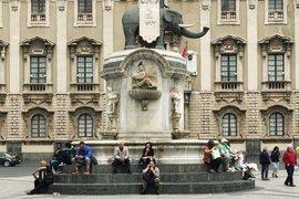 Lava stone elephant in Duomo Square.