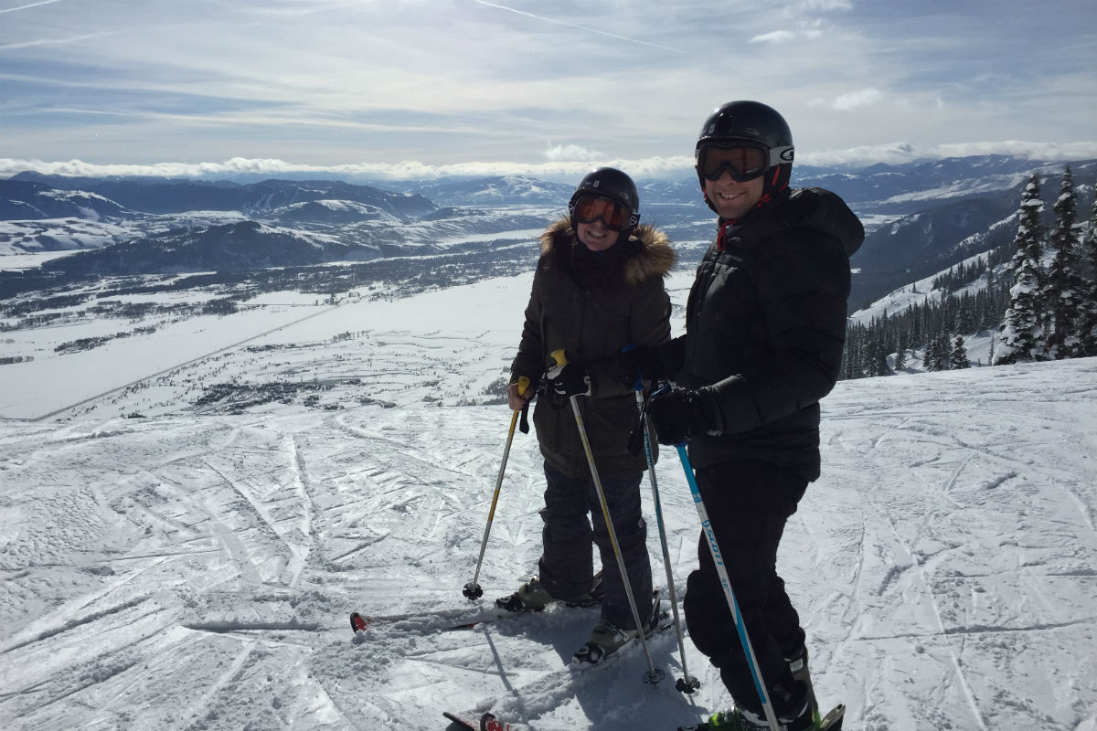 Skiing at Jackson Hole Mountain Resort in Jackson Hole, Wyoming.