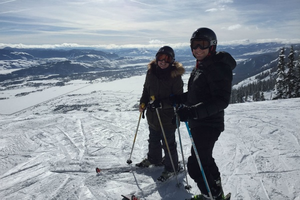 Skiing at Jackson Hole Mountain Resort in Jackson Hole, Wyoming.