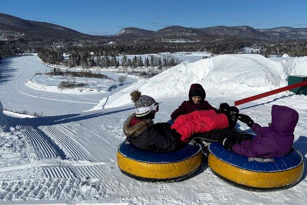 Snow tubing at Village Vacances Valcartier
