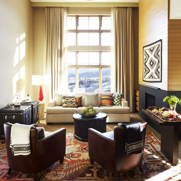 living room hotel at Viceroy Snowmass