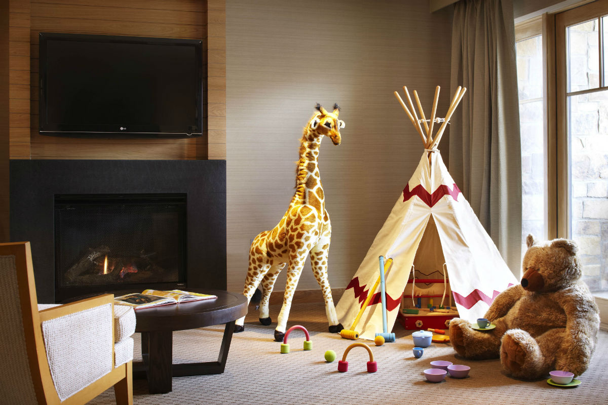 kids hotel room at Viceroy Snowmass