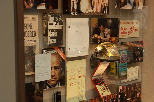 The Godfather Display at Francis Ford Coppola Winery