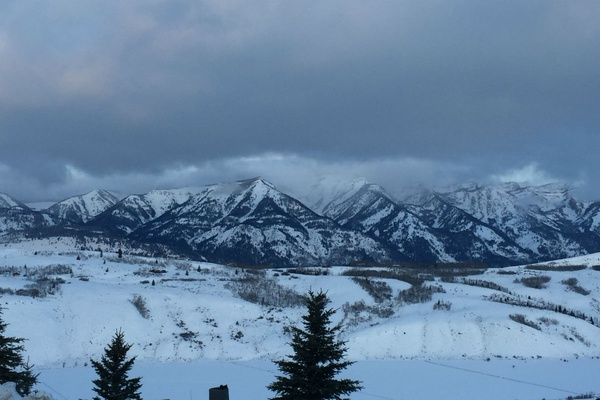 View from Spring Creek Ranch in Jackson, Wyoming.