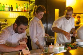 The chefs at Santa Katerina in Tel Aviv.
