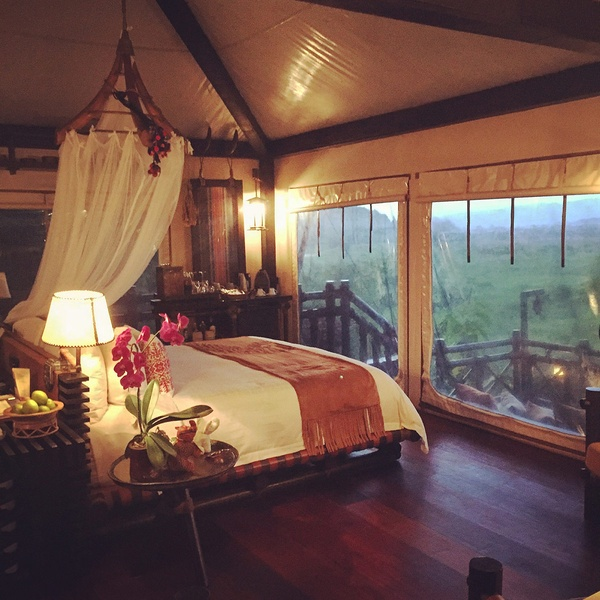 Bedroom at Four Seasons Tented Camp