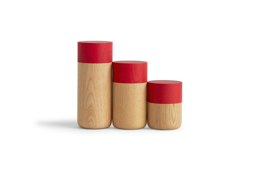 Tutu Soji Tall Red Canisters