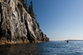 Kayaking on the coast of Maine.