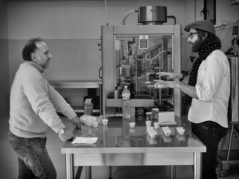 Cesare and Nick at Domenica Fiore, Umbria, Italy