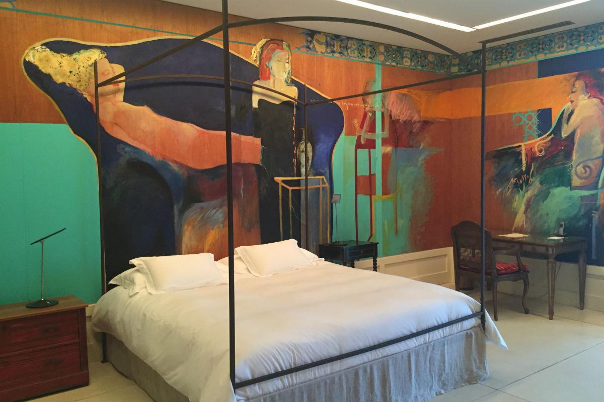 hotel room at Estancia Vik in Punta del Este, Uruguay.