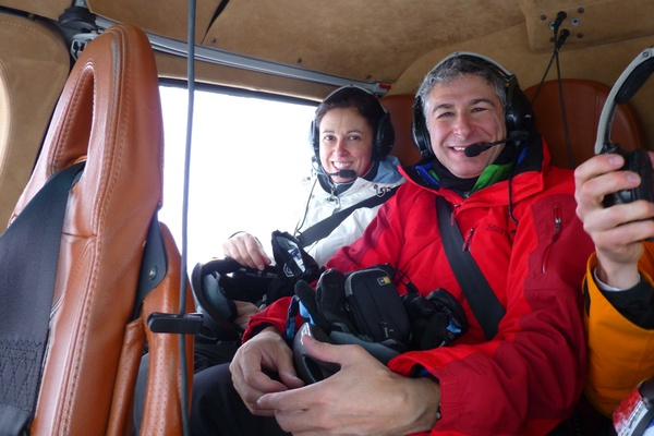 Paula and James in Heli