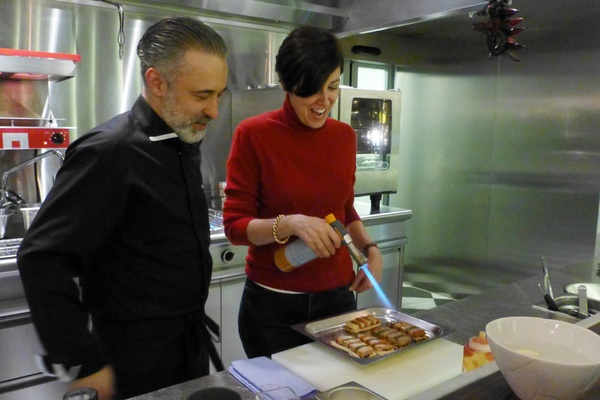 Paula cooking with Sergie Arola