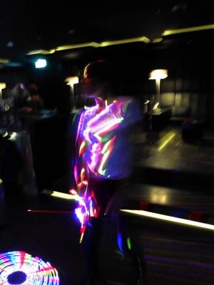Dancing at night