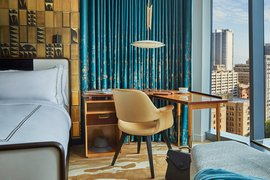 The interior of a guest room at Viceroy Chicago