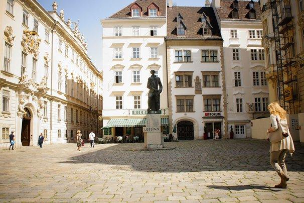 Judenplatz in Vienna.