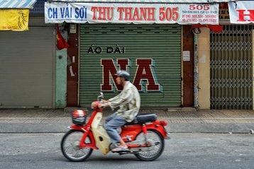 Chinatown in Saigon, Vietnam