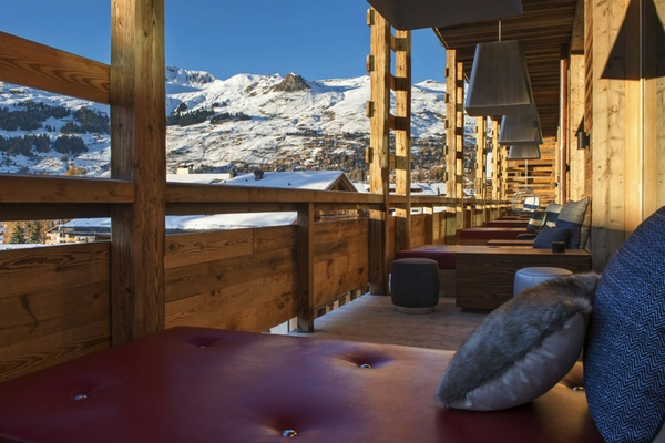 W Verbier Living Room Terrace