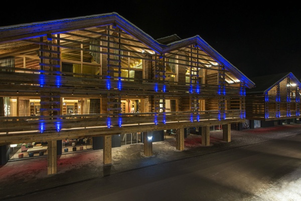 W Verbier at night
