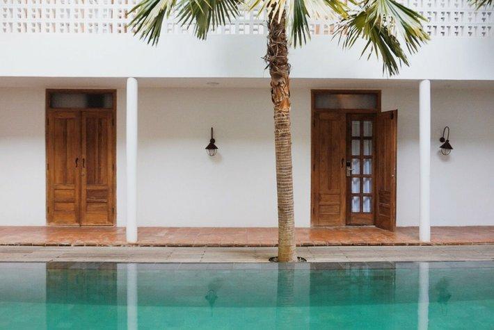 Poolside Adhisthana Hotel, Yogyakarta, Indonesia.