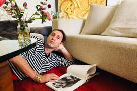 Adir Abergel in his Los Angeles home.