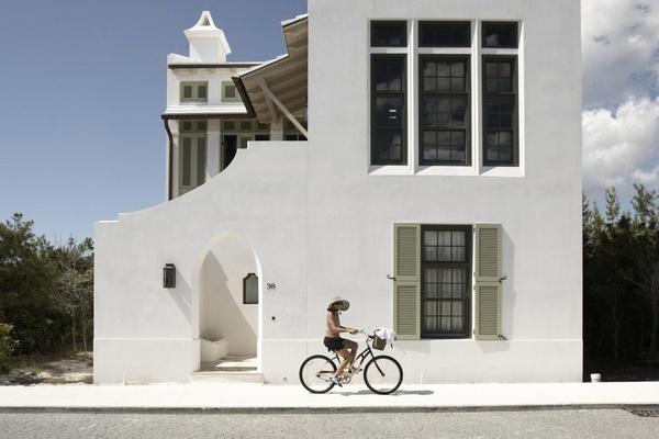 Bike riding in Alys Beach, Florida