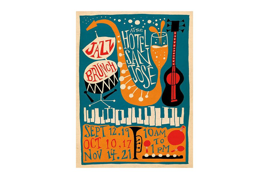 Jazz Brunch Poster