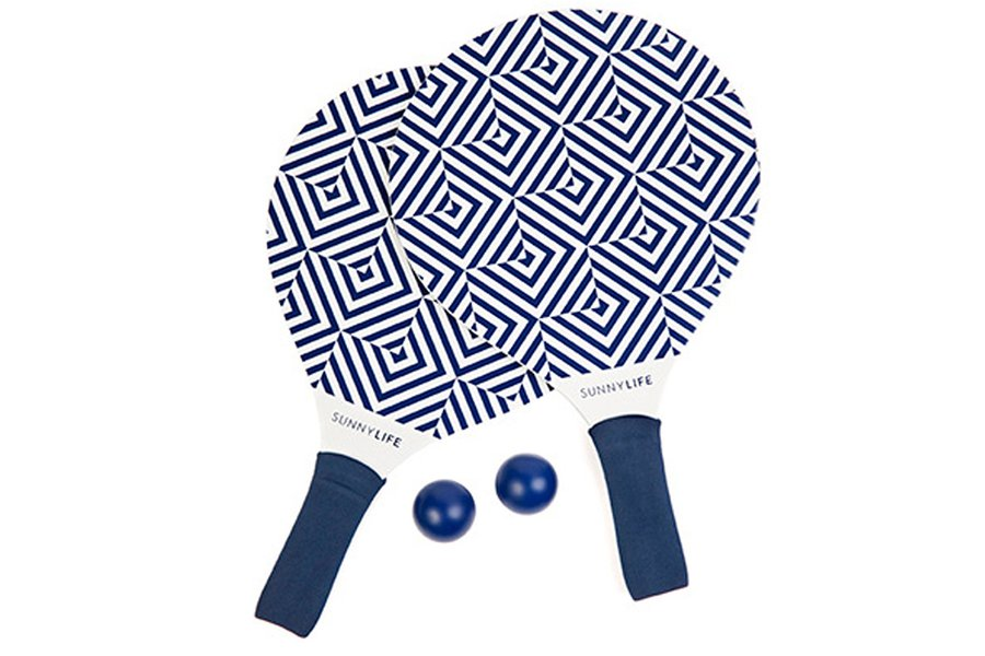 Blue & White Beach Paddles
