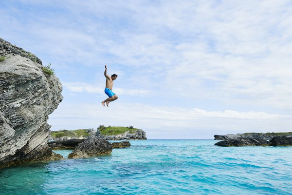 Swimming in Bermuda.