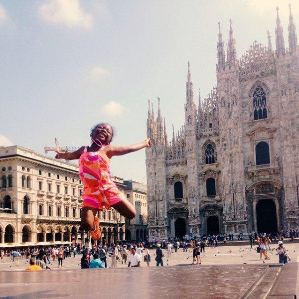 Joy in Milan