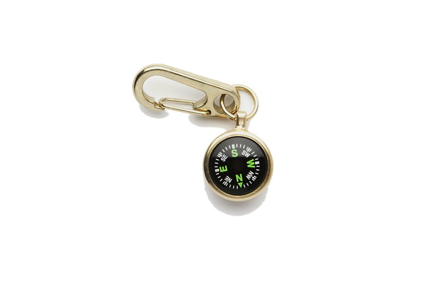 Brass Compass and Clip