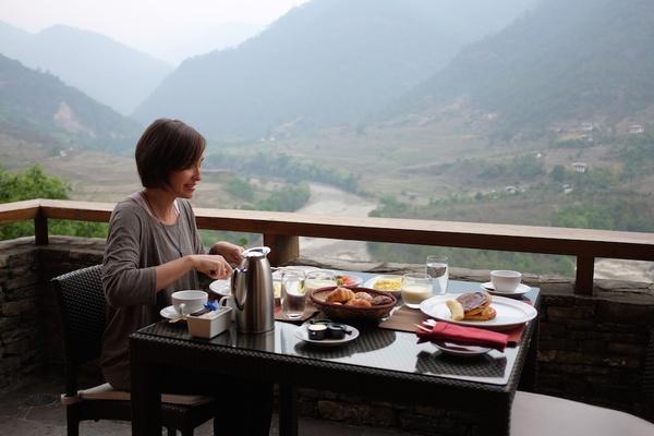 hotel breakfast Bhutan
