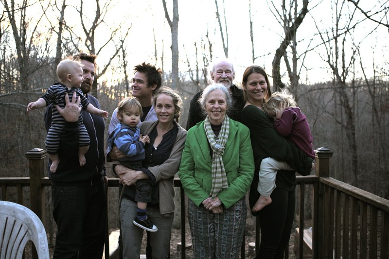 Ina May with the filmmakers and their families.