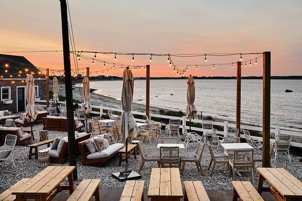 Block Island Beach House beach bar.
