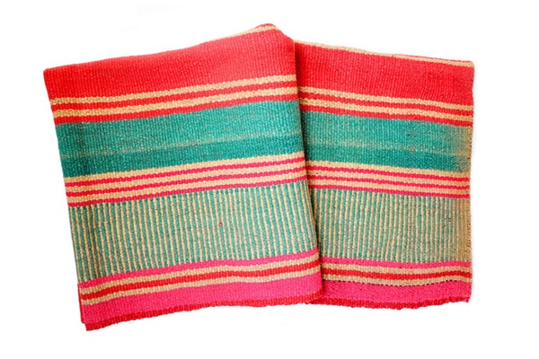 bolivian watermelon stripe blanket
