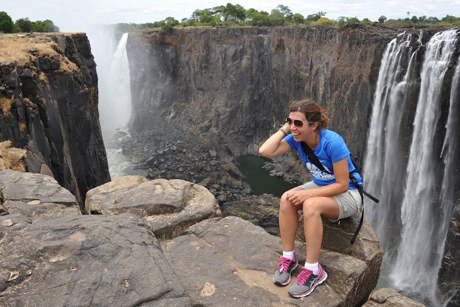 Nina Kokotas Hahn at Victoria Falls
