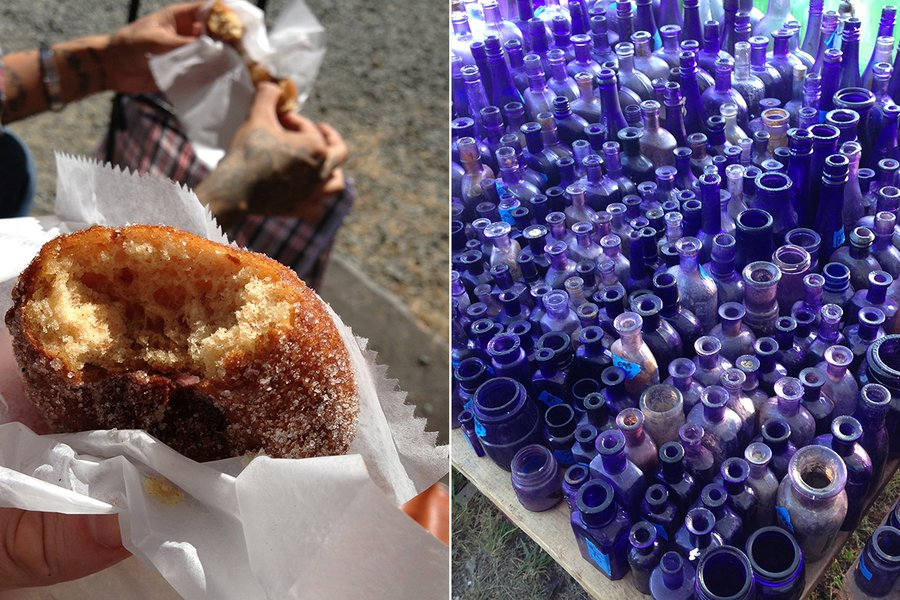 Donuts & Blue Glass