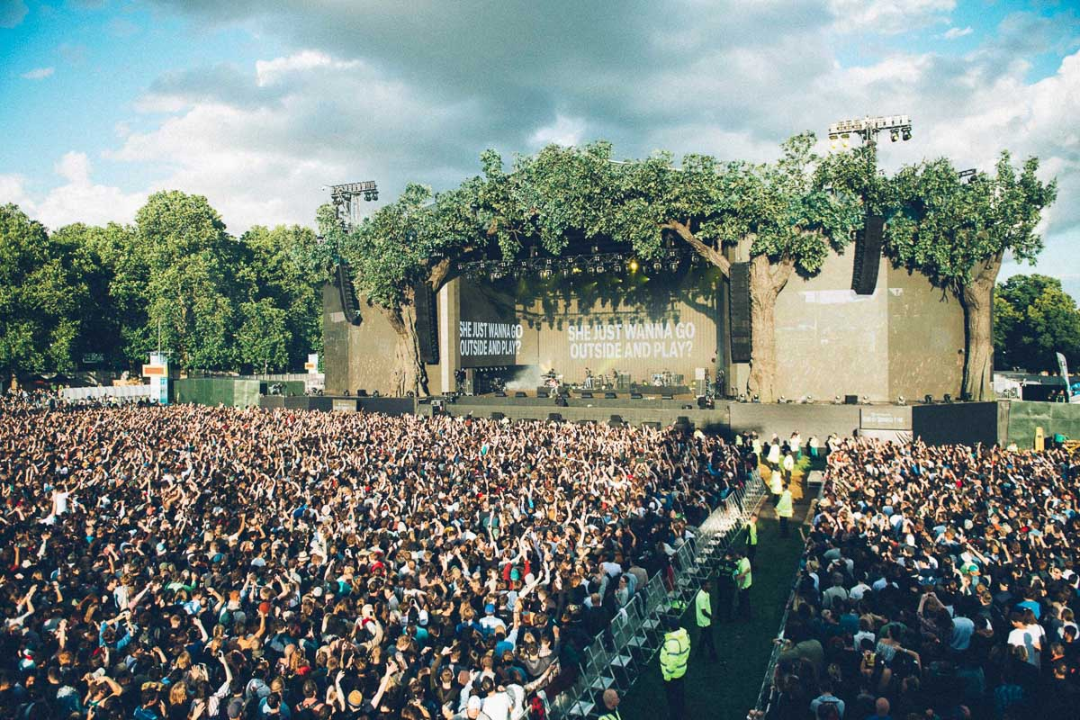 Rock out in the middle of Hyde Park. Photo courtesy of British Summertime.