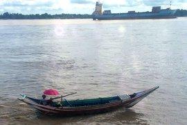 A boat in Burma.