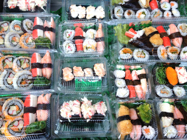 Sushi on the street